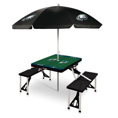 Picnic Table NFL Team: Philadelphia Eagles/Black