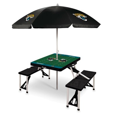 Picnic Table NFL Team: Jacksonville Jaguars/Black