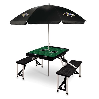 Picnic Table NFL Team: Baltimore Ravens/Black