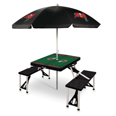 Picnic Table NFL Team: Tampa Bay Buccaneers/Black