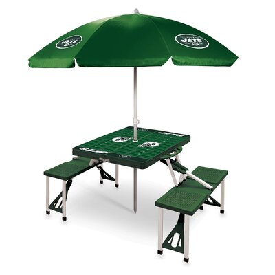 Picnic Table NFL Team: New York Jets/Hunter Green