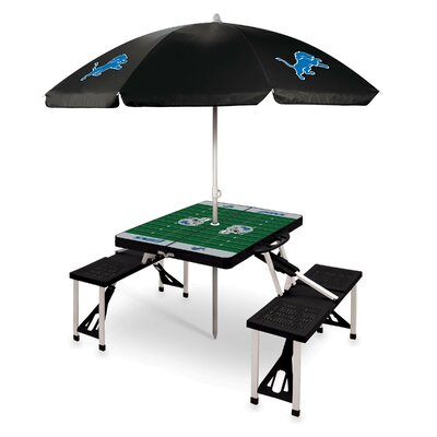 Picnic Table NFL Team: Detroit Lions/Black