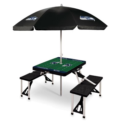 Picnic Table NFL Team: Seattle Seahawks/Black