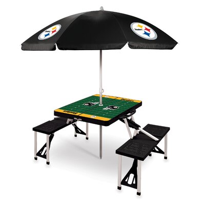 Picnic Table NFL Team: Pittsburgh Steelers/black