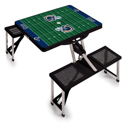 NFL Picnic Table Sport Finish: Black, NFL Team: Los Angeles Rams