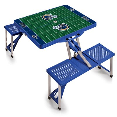 NFL Picnic Table Sport Finish: Blue, NFL Team: Los Angeles Rams