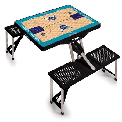 NBA Picnic Table Sport Color: Black, NBA Team: Charlotte Hornets