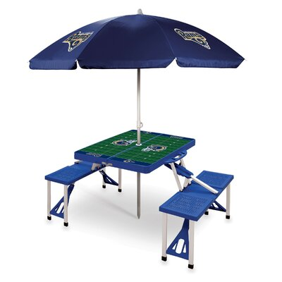 Picnic Table NFL Team: Los Angeles Rams/blue