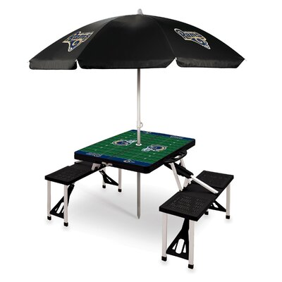 Picnic Table NFL Team: Los Angeles Rams/Black