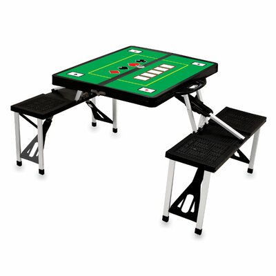 Picnic Table Sport Finish: Black with Poker