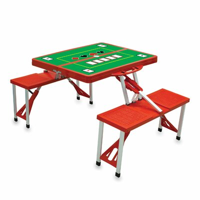 Picnic Table Sport Finish: Red with Poker