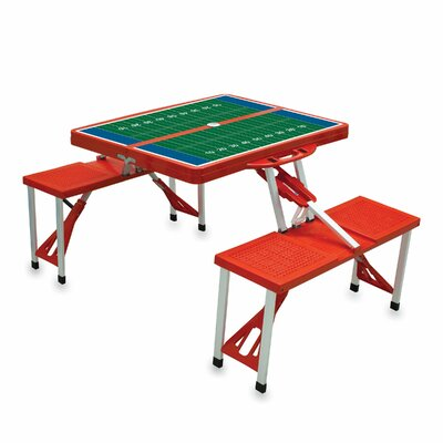 Picnic Table Sport Finish: Red with Football Field