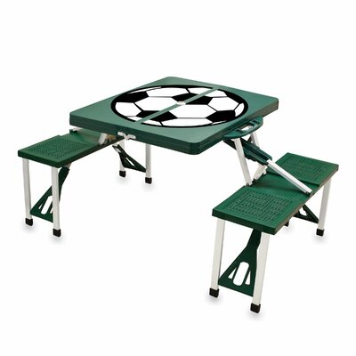Picnic Table Sport Finish: Green with Soccer