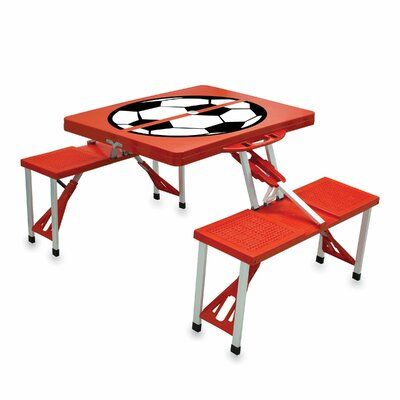 Picnic Table Sport Finish: Red with Soccer