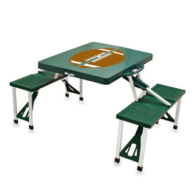 Picnic Table Sport Finish: Green with Football