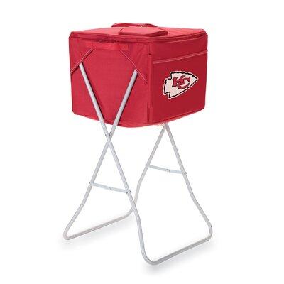 Picnic Time NFL Party Cube Digital Print Cooler - NFL Team: Kansas City Chiefs, Color: Red