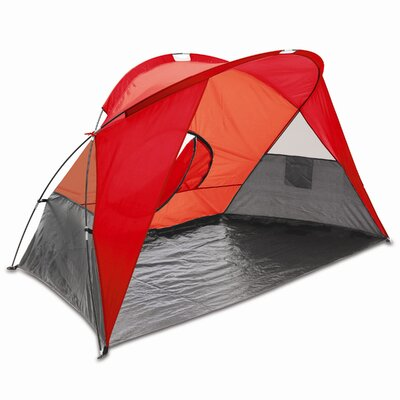 Cove Portable Sun / Wind Shelter Color: Red/Gray/Silver