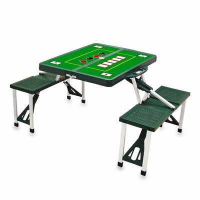 Picnic Table Sport Finish: Green with Poker