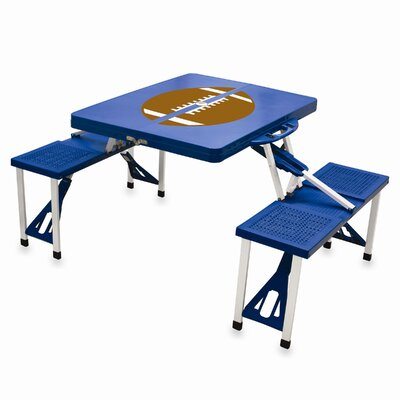 Picnic Table Sport Finish: Blue with Football
