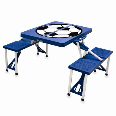 Picnic Table Sport Finish: Blue with Soccer