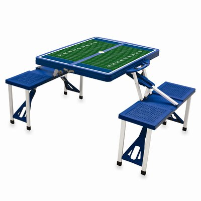 Picnic Table Sport Finish: Blue with Football Field