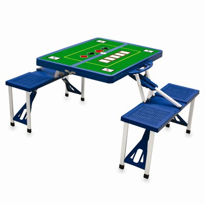 Picnic Table Sport Finish: Blue with Poker
