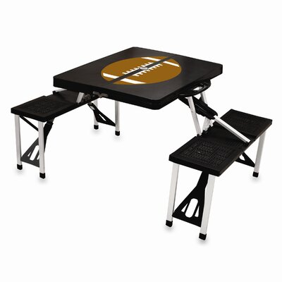 Picnic Table Sport Finish: Black with Football