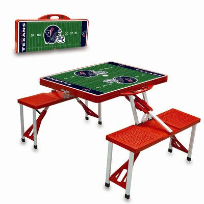 Picnic Time NFL Picnic Table Sport - Color: Red NFL Team: Houston Texans