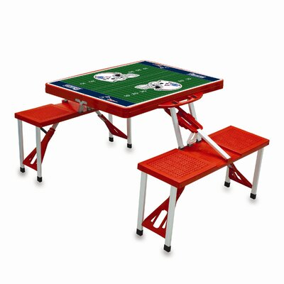 NFL Picnic Table Sport Finish: Red, NFL Team: New England Patriots