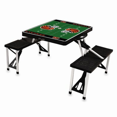 Picnic Time NFL Picnic Table Sport - Color: Black, NFL Team: Cincinnati Bengals at Sears.com