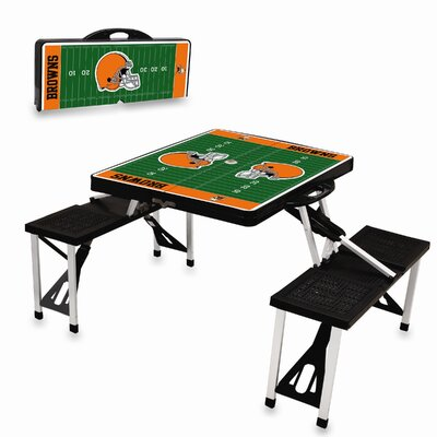 Picnic Time NFL Picnic Table Sport - Color: Black, NFL Team: Cleveland Browns at Sears.com