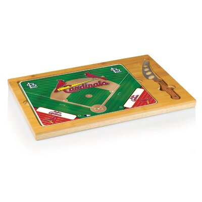 Picnic Time MLB Icon Wood Cutting Board - MLB Team: St. Louis Cardinals