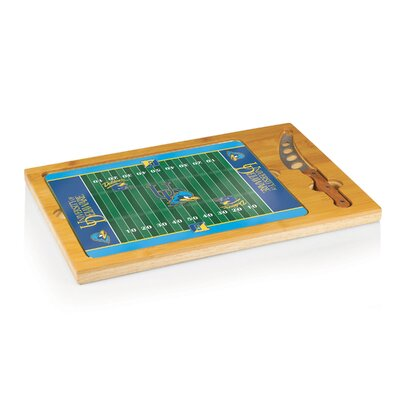 Picnic Time NCAA Football Icon Cutting Cheese Tray - NCAA Team: University of Delaware Blue Hens