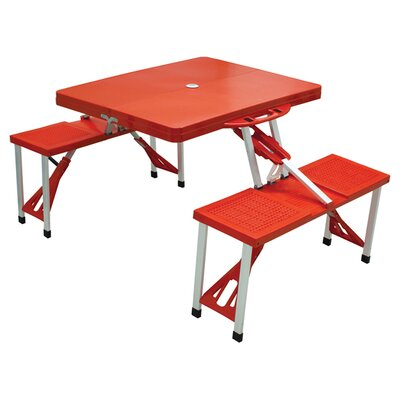Outdoor Furniture Picnic Table Finish: Red