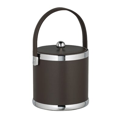 Kraftware Comtempo 3 Qt. Ice Bucket with Fabric Lid - Color: Brown
