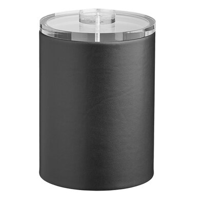 Kraftware Comtempo 2 Qt. Tall Ice Bucket with Thick Lucite - Color: Black