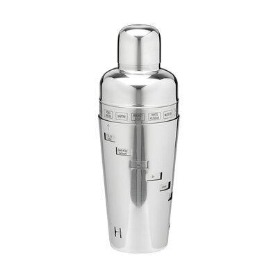 Stainless Steel 32 Oz. Recipe Cocktail Shaker 70321