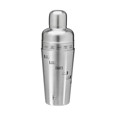 Stainless Steel 32 Oz. Recipe Cocktail Shaker 71421