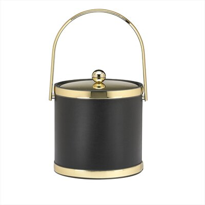 Sophisticates 3 Qt Ice Bucket in Black