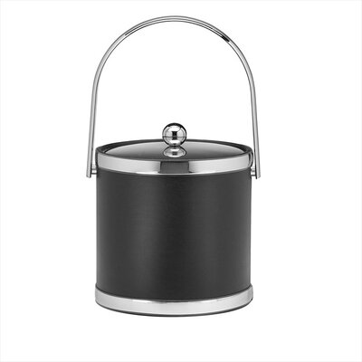 Sophisticates 3 Qt Ice Bucket with Track Handle in Black