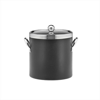 Soho 3 Qt Leatherette Ice Bucket in Black
