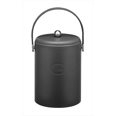 Soho Monogrammed 5 Qt Ice Bucket In Black Letter-e