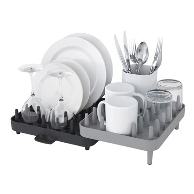 Connect Adjustable 3 Piece Dishrack Set Finish: Grey