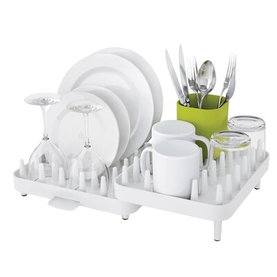 Connect Adjustable 3 Piece Dishrack Set Finish: White