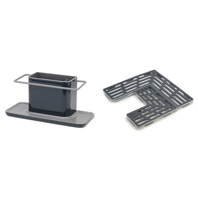 Caddy and Sink Saver Set Color: Grey