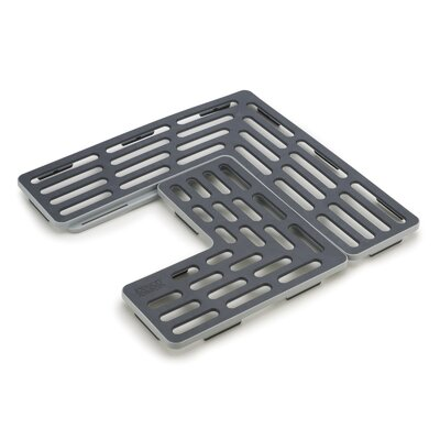 2-Piece Sink Grids Finish: Gray