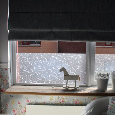 Scroll Flower Static Window Film FAB10309