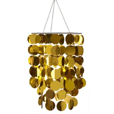 Eclipse 1-Light Geometric Pendant Shade Color: Gold