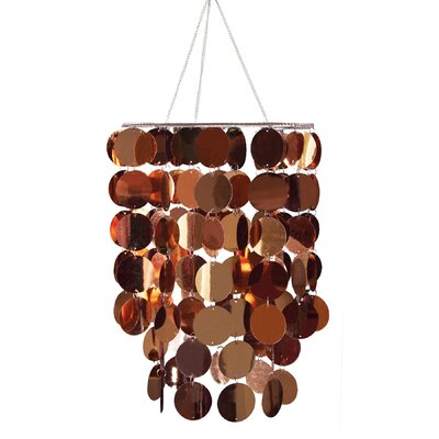 Eclipse 1-Light Geometric Pendant Shade Color: Copper