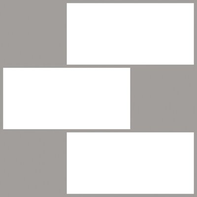 "20"" x 20"" Resin Peel & Stick Subway Tile in White/Gray NH2363"